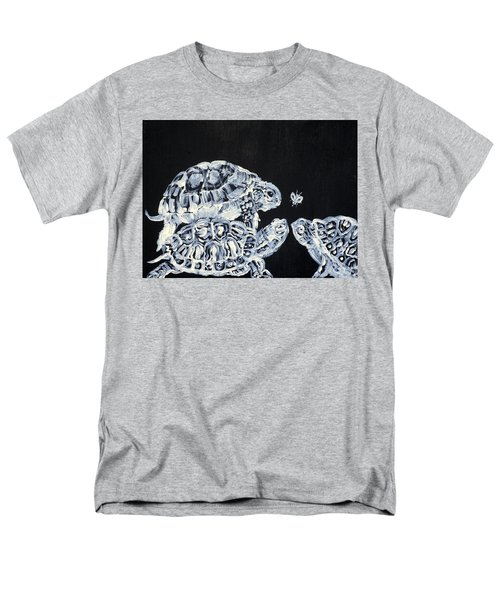 Men's T-Shirt  (Regular Fit) featuring the painting Three  Terrapins And One Fly by Fabrizio Cassetta