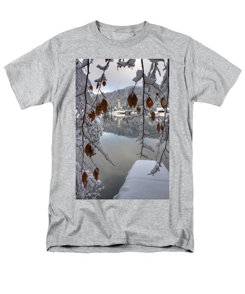 Men's T-Shirt  (Regular Fit) featuring the photograph Through The Snow Trees by Ian Middleton