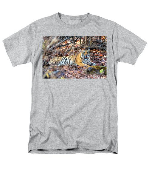 Tigress In The Woods Men's T-Shirt  (Regular Fit) by Pravine Chester