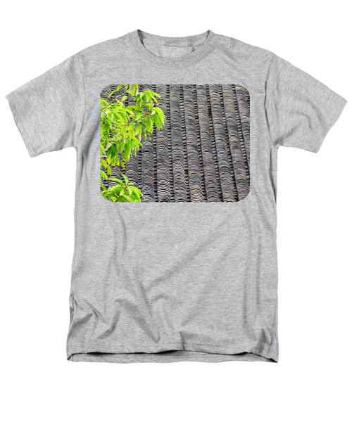 Men's T-Shirt  (Regular Fit) featuring the photograph Tiled Roof by Ethna Gillespie