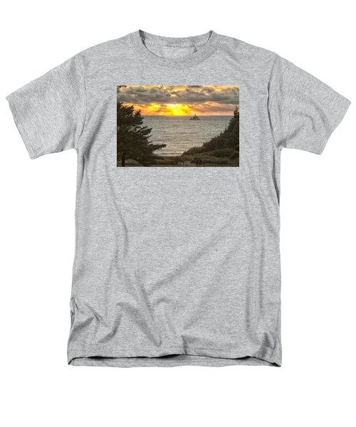 Tillamook Rock Lighthouse 0402 Men's T-Shirt  (Regular Fit) by Tom Kelly
