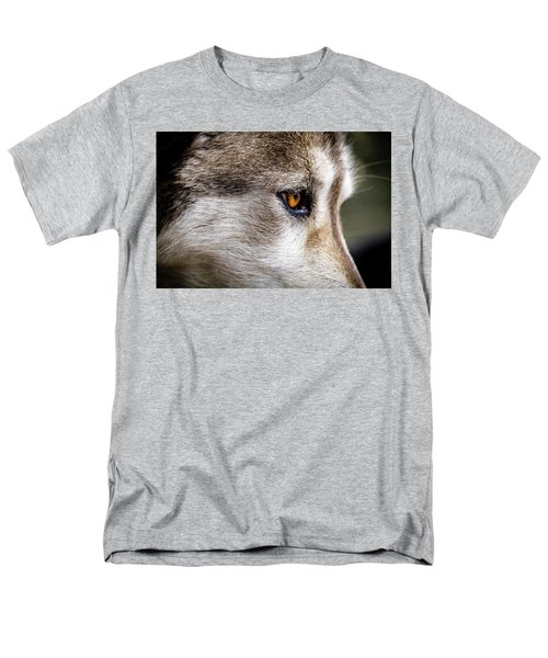Men's T-Shirt  (Regular Fit) featuring the photograph Timber Wolf Stare by Teri Virbickis