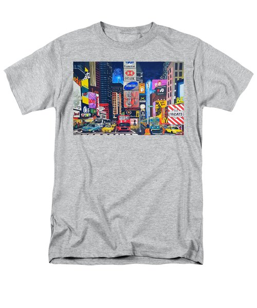 Times Square Men's T-Shirt  (Regular Fit) by Autumn Leaves Art
