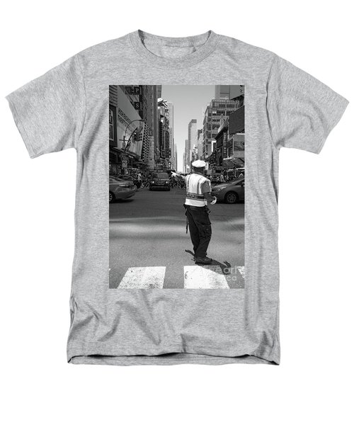 Men's T-Shirt  (Regular Fit) featuring the photograph Times Square, New York City  -27854-bw by John Bald