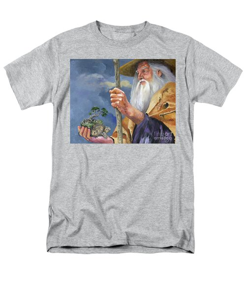 To Hold The World In The Palm Of Your Hand Men's T-Shirt  (Regular Fit) by J W Baker
