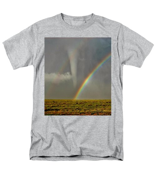 Tornado And The Rainbow II  Men's T-Shirt  (Regular Fit) by Ed Sweeney