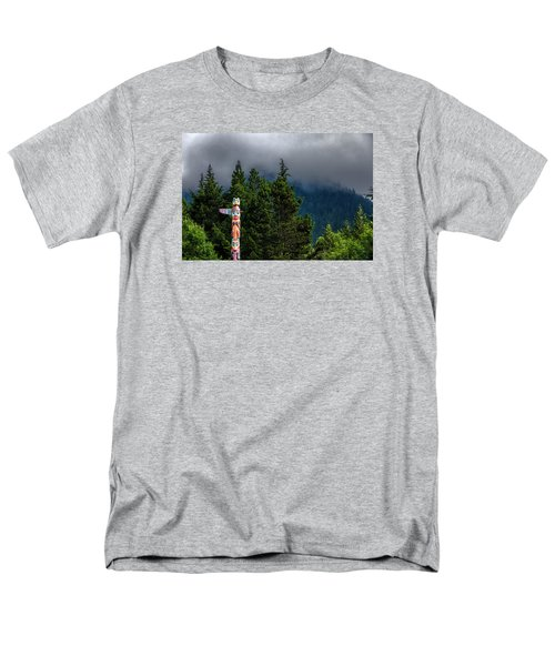 Men's T-Shirt  (Regular Fit) featuring the photograph Totem Pole by Lewis Mann
