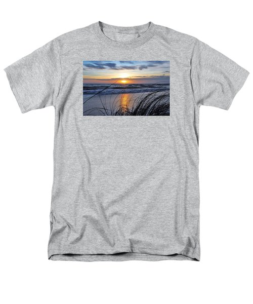 Men's T-Shirt  (Regular Fit) featuring the photograph Touching The Sunset by Kicking Bear Productions