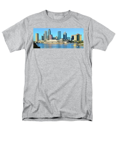 Men's T-Shirt  (Regular Fit) featuring the photograph Towers By The Bay by Frozen in Time Fine Art Photography