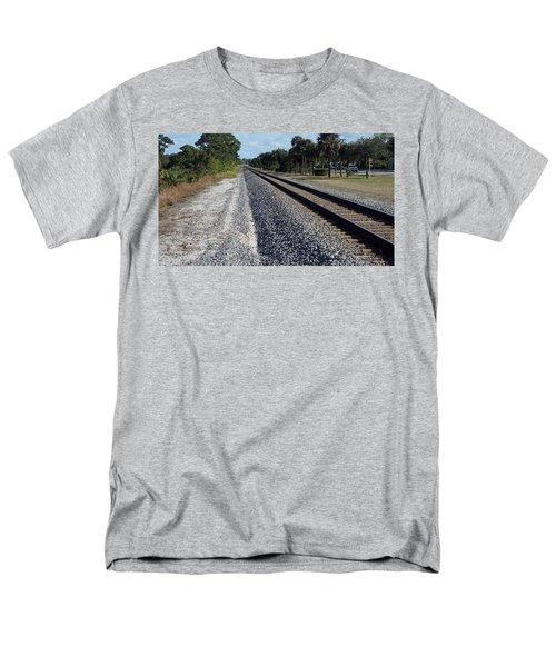 Tracks Hobe Sound, Fl Men's T-Shirt  (Regular Fit) by John Wartman