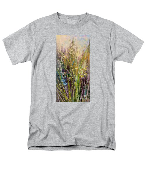 Men's T-Shirt  (Regular Fit) featuring the painting Trail Of Beauty by Tatiana Iliina