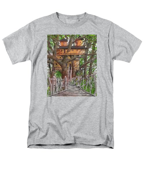 Men's T-Shirt  (Regular Fit) featuring the drawing Tree House #6 by Jim Hubbard