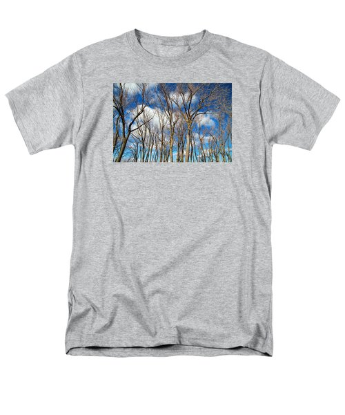 Men's T-Shirt  (Regular Fit) featuring the photograph Trees And Clouds by Valentino Visentini