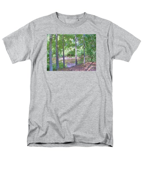 Trees At Rivers Edge Men's T-Shirt  (Regular Fit) by Shirley Moravec