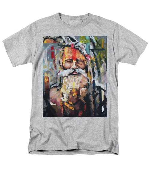 Men's T-Shirt  (Regular Fit) featuring the painting Tribal Chief Sadhu by Richard Day