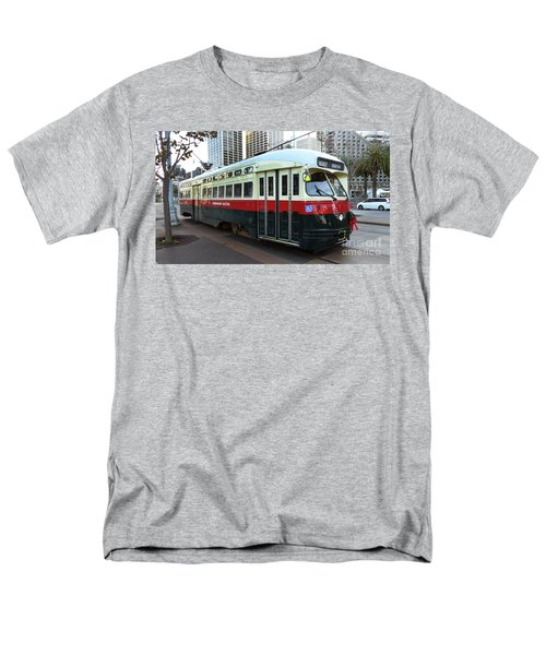 Men's T-Shirt  (Regular Fit) featuring the photograph Trolley Number 1077 by Steven Spak