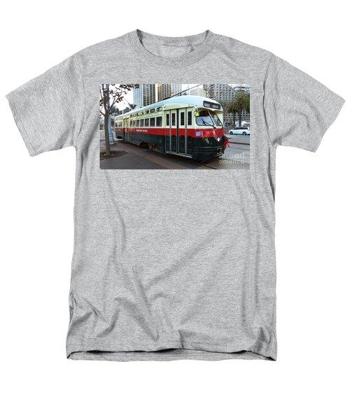 Trolley Number 1077 Men's T-Shirt  (Regular Fit) by Steven Spak