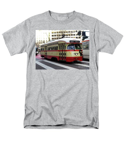 Men's T-Shirt  (Regular Fit) featuring the photograph Trolley Number 1079 by Steven Spak