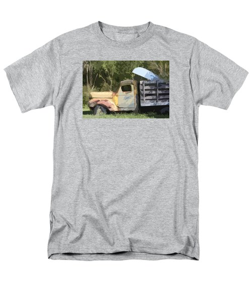 Men's T-Shirt  (Regular Fit) featuring the photograph Truck And Canoe by Donna G Smith