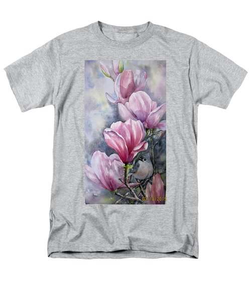 Tulips And Titmouse Men's T-Shirt  (Regular Fit)