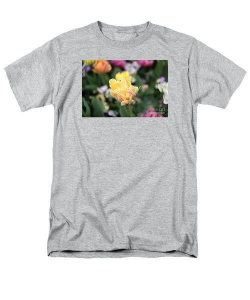 Men's T-Shirt  (Regular Fit) featuring the photograph Tulips by Diana Mary Sharpton