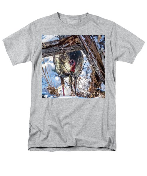 Men's T-Shirt  (Regular Fit) featuring the photograph Turkey In The Brush by Paul Freidlund