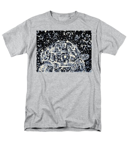 Men's T-Shirt  (Regular Fit) featuring the painting Turtle Walking Under A Starry Sky by Fabrizio Cassetta