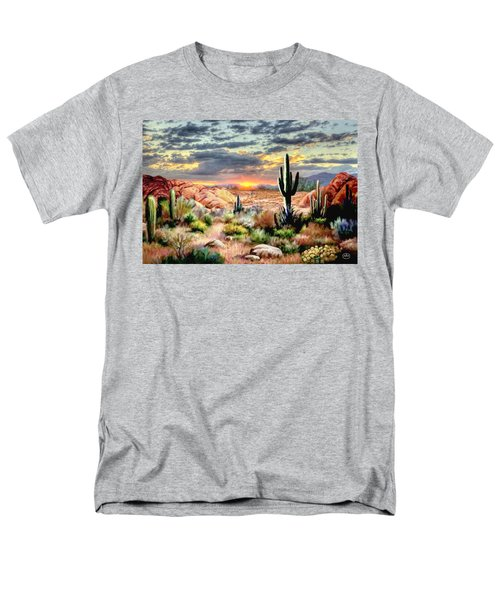 Twilight On The Desert Men's T-Shirt  (Regular Fit) by Ron Chambers