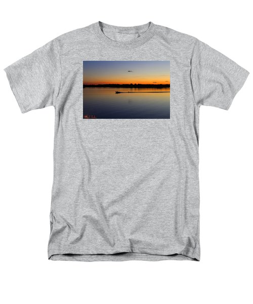 Men's T-Shirt  (Regular Fit) featuring the photograph Twilight Water Skiing by Michael Rucker