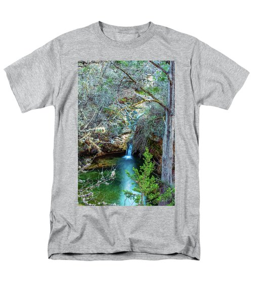 Twin Falls At Peddernales Falls State Park Men's T-Shirt  (Regular Fit) by Micah Goff