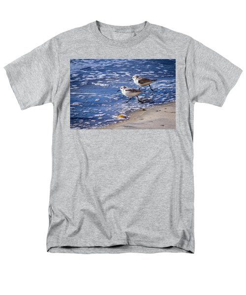 Twin Plovers Men's T-Shirt  (Regular Fit) by Randy Bayne
