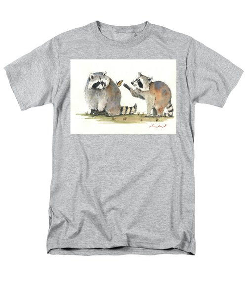 Two Raccoons Men's T-Shirt  (Regular Fit) by Juan Bosco