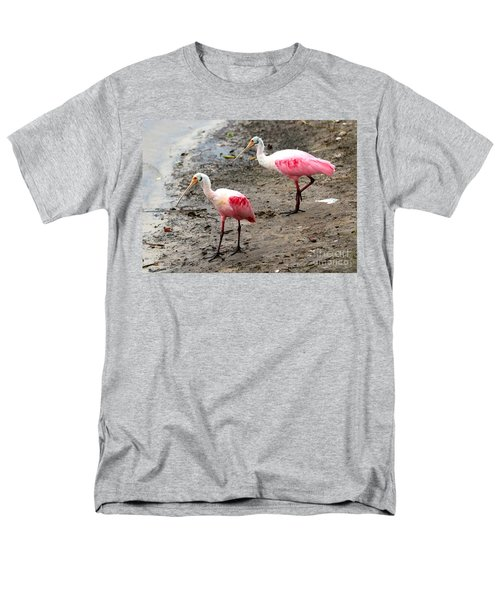 Two Roseate Spoonbills Men's T-Shirt  (Regular Fit) by Carol Groenen