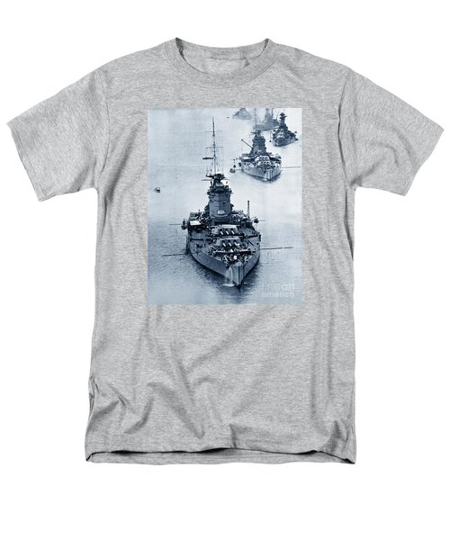 Hms Nelson And Hms Rodney Battleships And Battlecruisers Hms Hood Circa 1941 Men's T-Shirt  (Regular Fit) by California Views Mr Pat Hathaway Archives