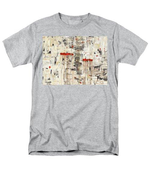 Men's T-Shirt  (Regular Fit) featuring the painting Un Pour Tous by Carmen Guedez