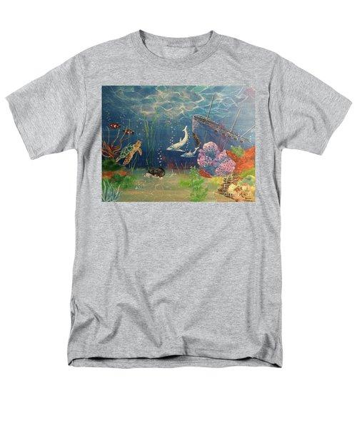 Under The Sea Men's T-Shirt  (Regular Fit) by Denise Tomasura