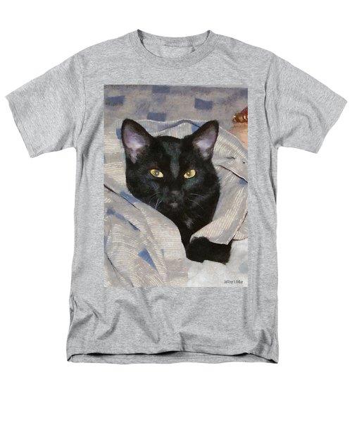 Undercover Kitten Men's T-Shirt  (Regular Fit) by Jeff Kolker