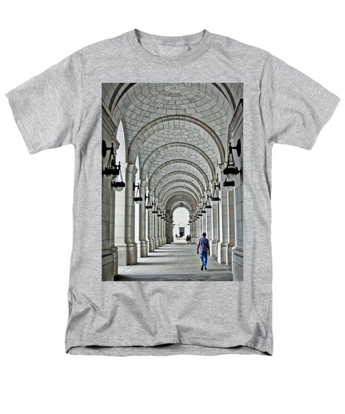Men's T-Shirt  (Regular Fit) featuring the photograph Union Station Exterior Archway by Suzanne Stout
