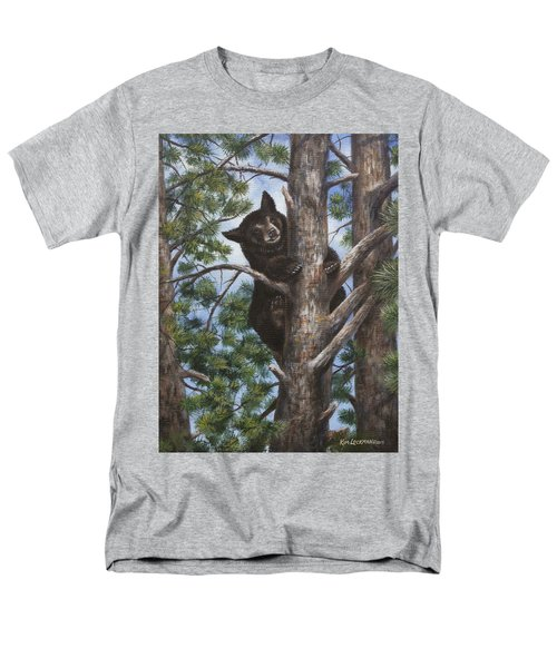 Men's T-Shirt  (Regular Fit) featuring the painting Up A Tree by Kim Lockman