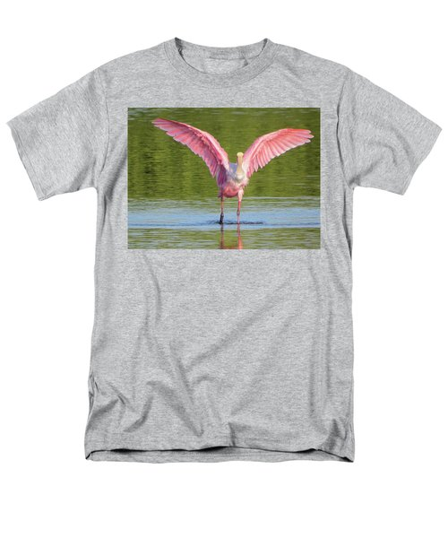 Up, Up And Away Sanibel Spoonbill Men's T-Shirt  (Regular Fit) by Melinda Saminski