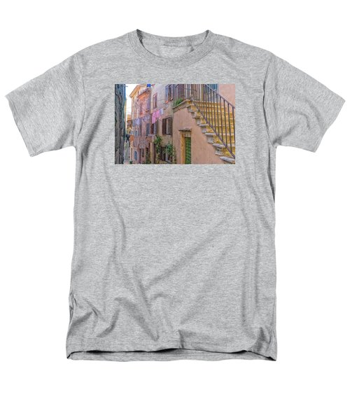 Men's T-Shirt  (Regular Fit) featuring the photograph Urban View With Laundary by Uri Baruch