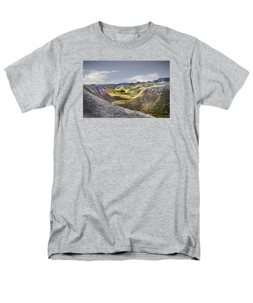 Men's T-Shirt  (Regular Fit) featuring the photograph Valley Of Beauty,badlands South Dakota by John Hix