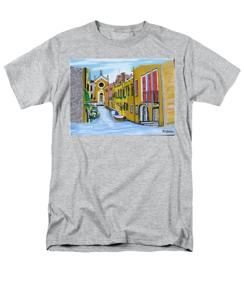Men's T-Shirt  (Regular Fit) featuring the painting Venice In September by Rod Jellison