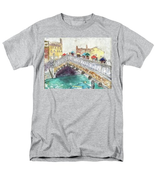 Venice In The Rain Men's T-Shirt  (Regular Fit) by Barbara Anna Knauf