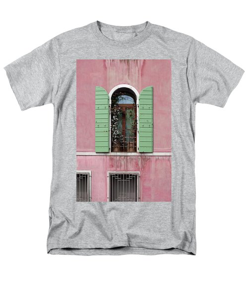 Venice Window In Pink And Green Men's T-Shirt  (Regular Fit) by Brooke T Ryan