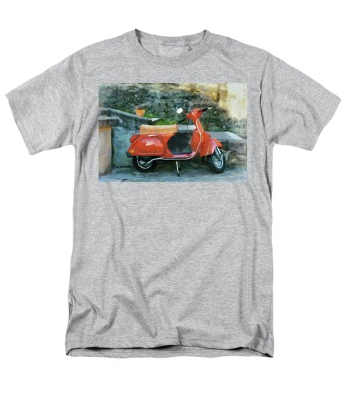 Men's T-Shirt  (Regular Fit) featuring the painting Vespa Parked by Jeff Kolker
