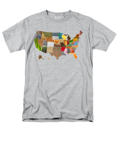 Vibrant Textures Of The United States Men's T-Shirt  (Regular Fit)