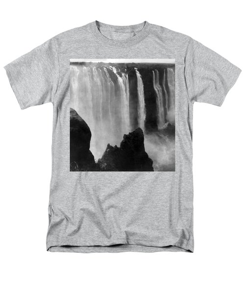 Victoria Falls - C 1911 Men's T-Shirt  (Regular Fit) by International  Images
