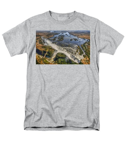 Men's T-Shirt  (Regular Fit) featuring the photograph Victoria Falls, The Smoke That Thunders by Myrna Bradshaw