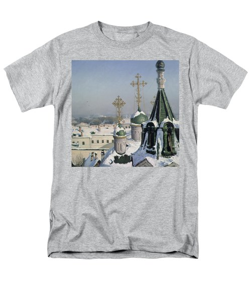 View From A Window Of The Moscow School Of Painting Men's T-Shirt  (Regular Fit) by Sergei Ivanovich Svetoslavsky